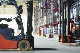 Forklift loader stacker truck