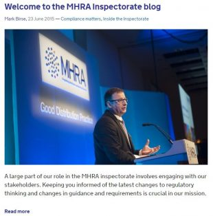 MHRA Inspectorate Blog 1st post