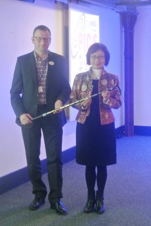 MHRA hands over the PIC/S walking stick to TFDA, Chinese Taipei