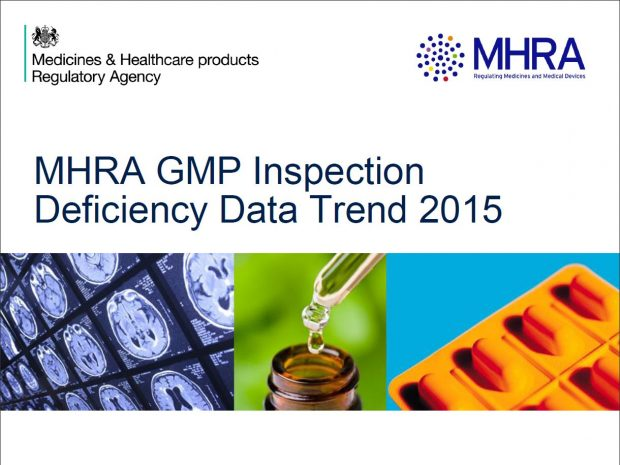 Front page of the GMP Inspection deficiency data