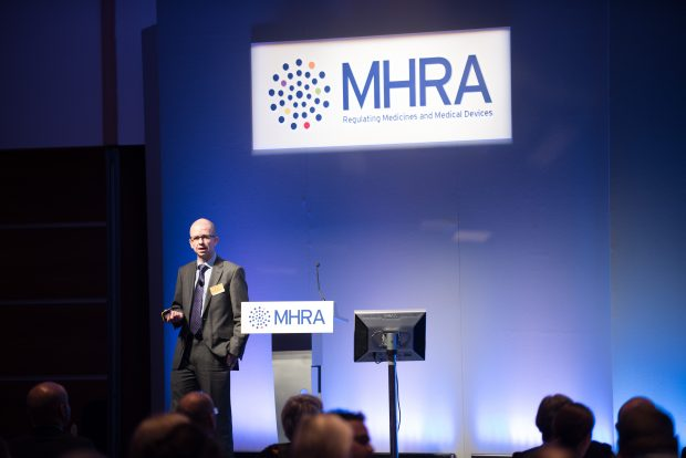 Inspector presneting at the MHRA Symposium