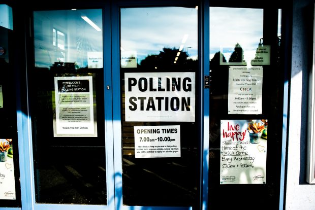 Image depicting the front of a polling station