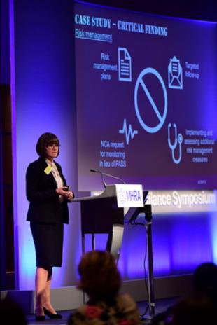 GPvP Inspector, Anna Adams, presenting at the symposium