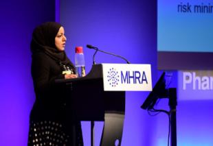 Lead Scientific Assessor, Shahin Kauser, presenting at the Symposium