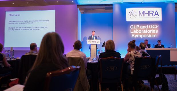 A previous MHRA GLP and GCP Laboratories Symposium, with Martin Reed (GLP and GMPQC Inspector) presenting.