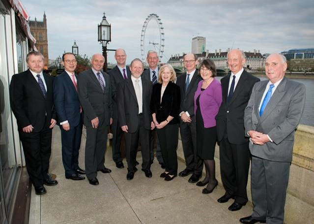 Members of the BP Commission assembled on the terrace at the House of Lords